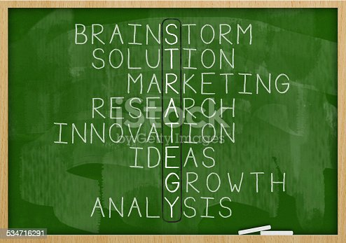 939898780istockphoto Strategy crossword / Green board (Click for more) 534716291