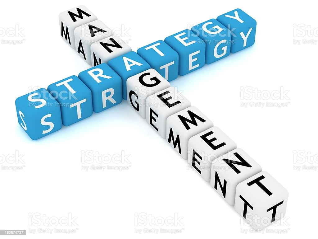 Strategy Crossword royalty-free stock photo