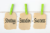istock Strategy Execution Success concept words 922873046