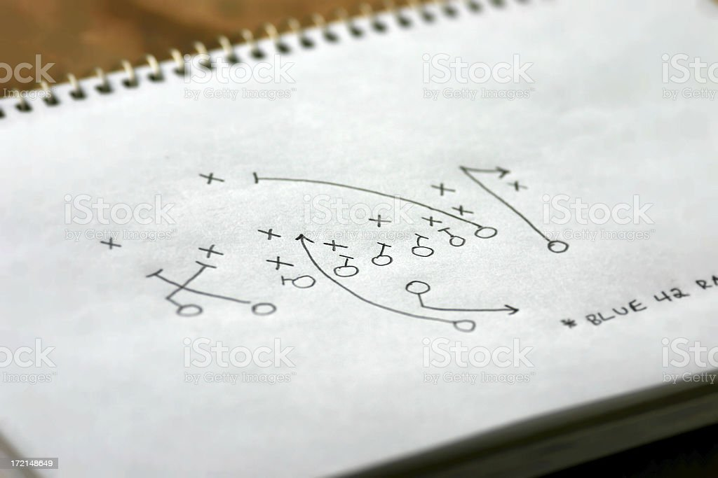Strategy Gameplan (X's & O's) stock photo