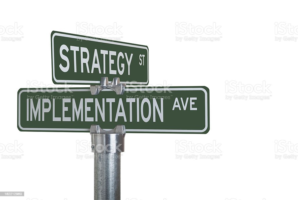 Strategy Implementation royalty-free stock photo
