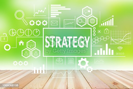185257431 istock photo Strategy in Business Concept 1068068158