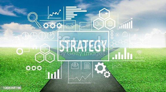 185257431 istock photo Strategy in Business Concept 1068068196