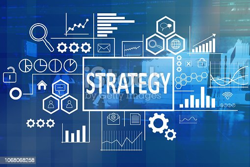 1027533352 istock photo Strategy in Business Concept 1068068258