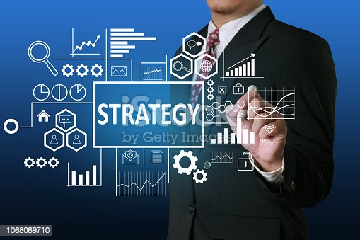 1027533352 istock photo Strategy in Business Concept 1068069710