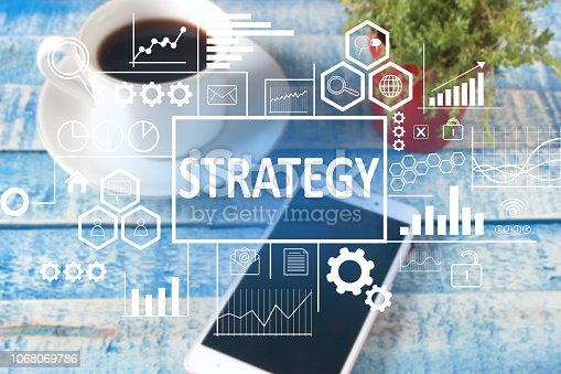 185257431 istock photo Strategy in Business Concept 1068069786