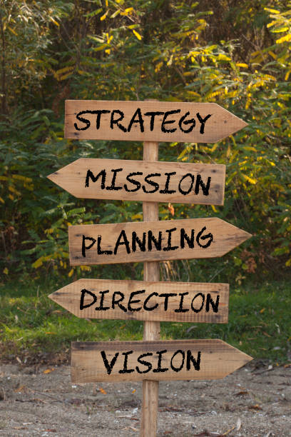 Strategy Mission Planning Direction Vision stock photo