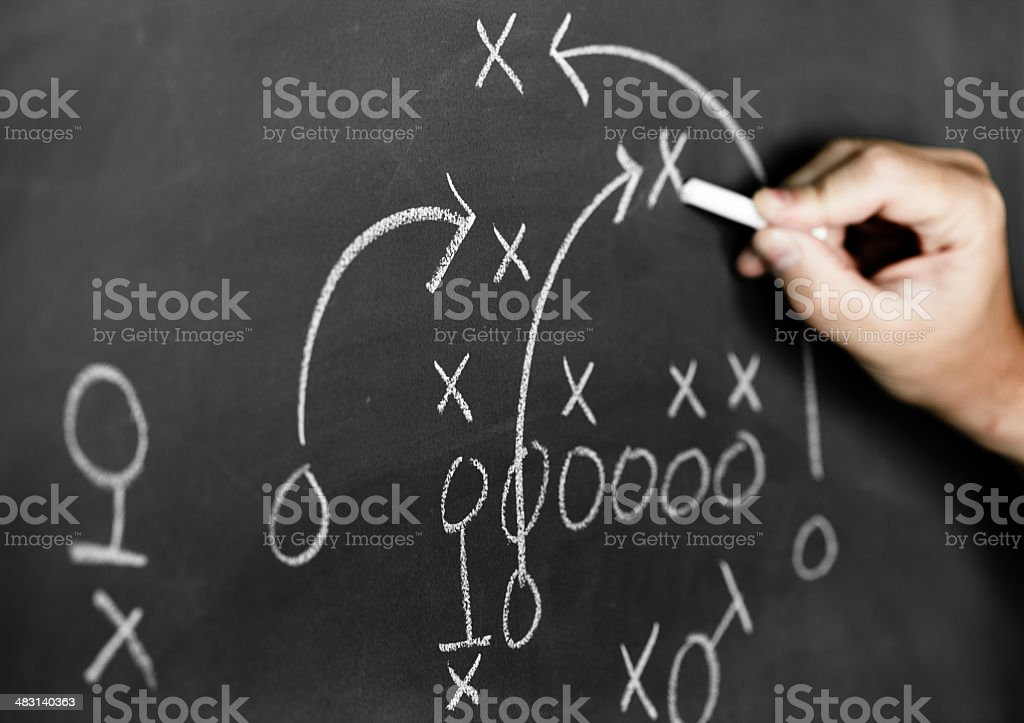 Strategy plan stock photo