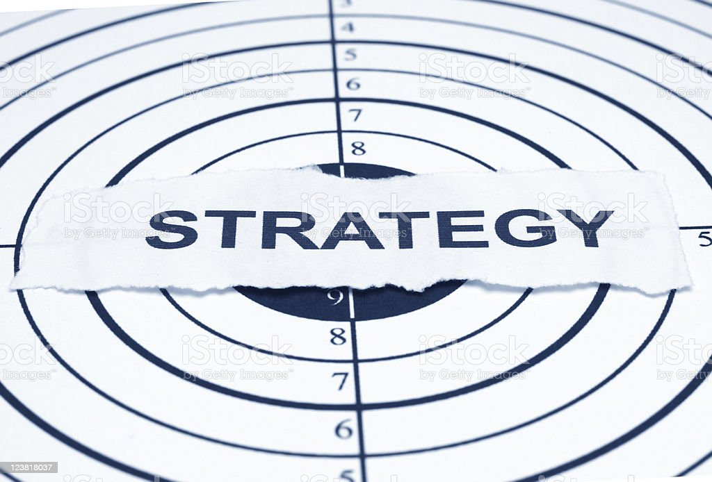 Strategy target royalty-free stock photo