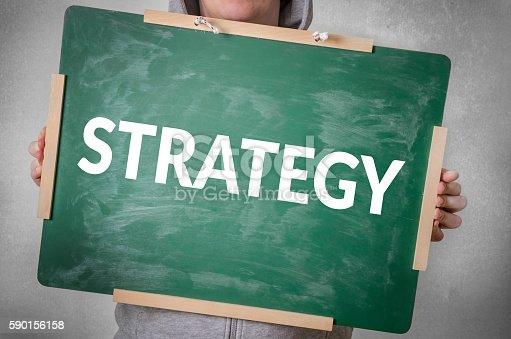 istock Strategy text written on chalkboard 590156158