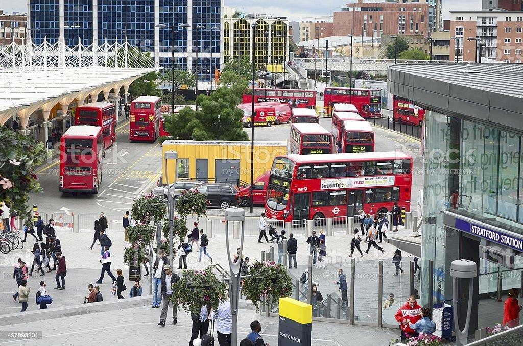 stratford centre bus terminal london stock photo