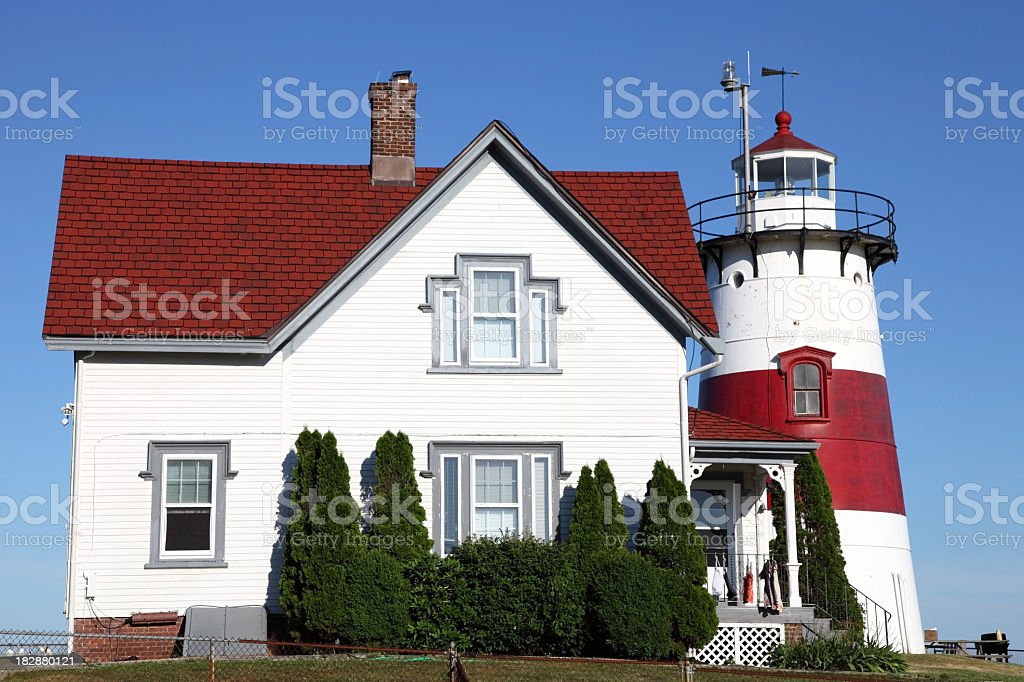 Stratford Point Lighthouse stock photo
