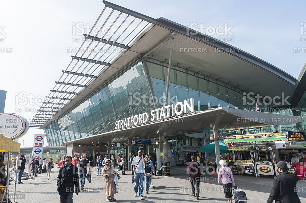 Stratford Station in London stock photo