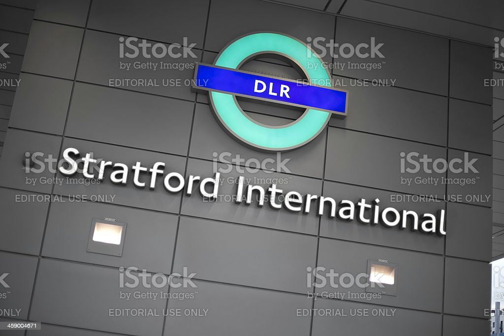 Stratford Station near London Olympic Park stock photo