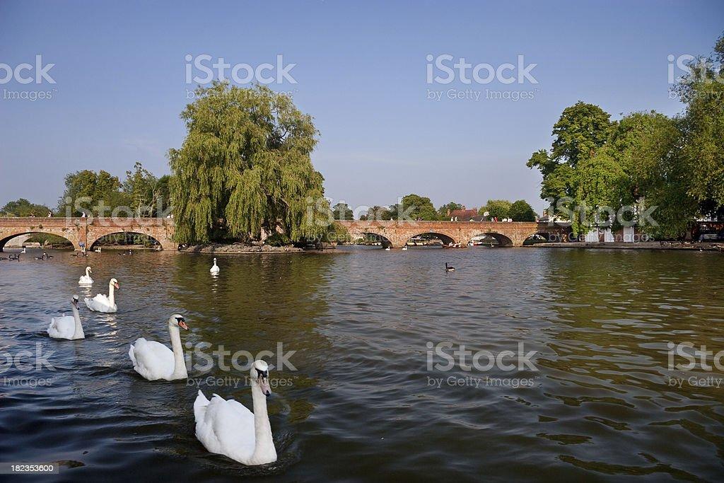 Stratford-upon-Avon, birthplace of William Shakespeare, Warwickshire, England stock photo