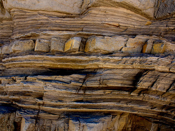 Stratified Rock stock photo