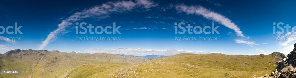 Stratosphere arc over mountains royalty-free stock photo