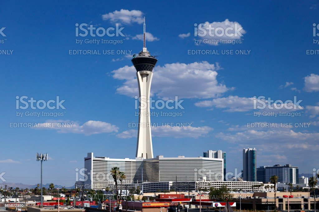 Stratosphere Tower and Hotel, Las Vegas, Nevada, USA stock photo