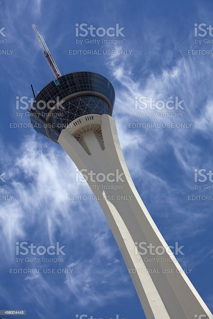 Stratosphere Tower in Las Vegas stock photo