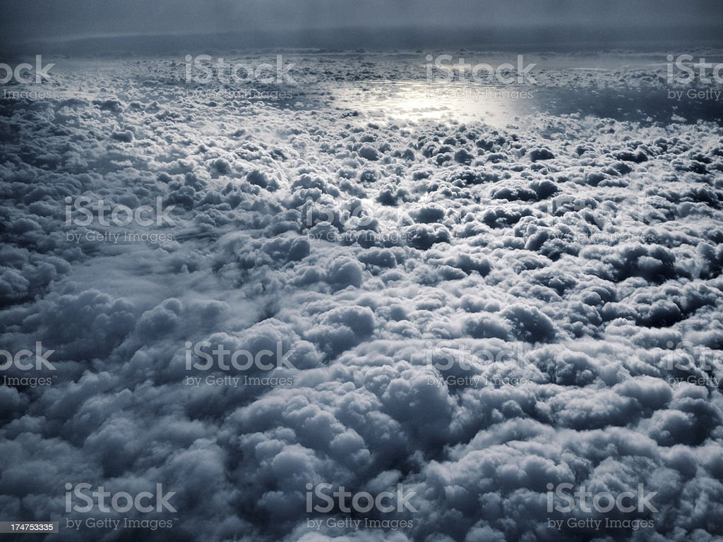 Stratosphere, view onto the tropopause royalty-free stock photo