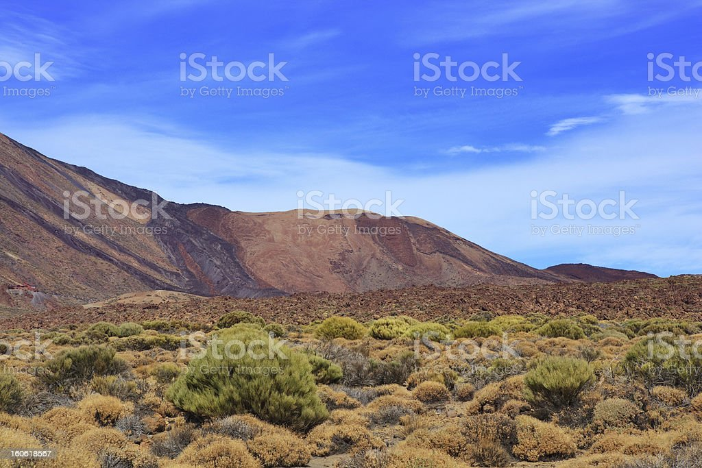 Stratums of lava royalty-free stock photo