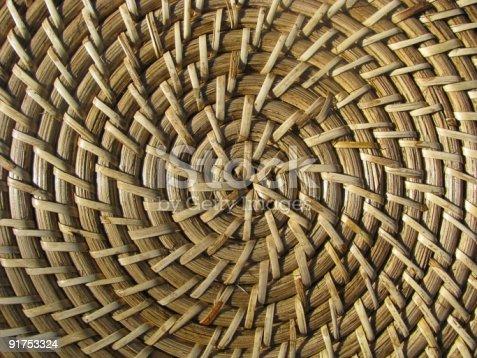 istock Straw  bamboo hat texture. 91753324