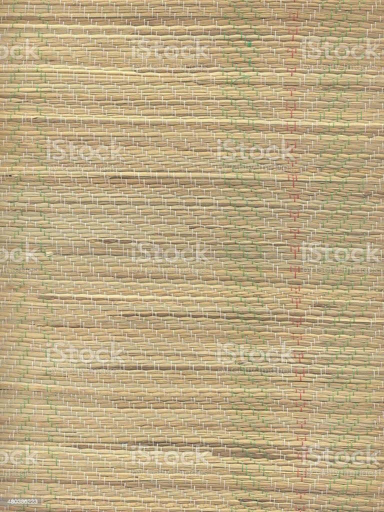 Straw Beach Mat stock photo