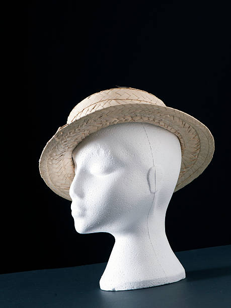 Straw Boater Hat stock photo