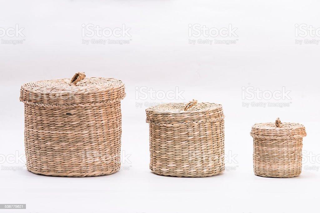 Straw box stock photo