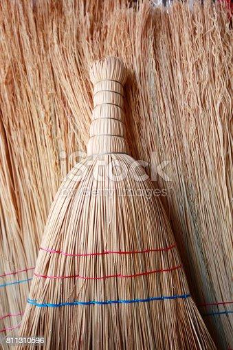 istock Straw broom 811310596