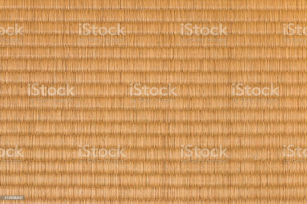 Straw colored tatami mat, background stock photo