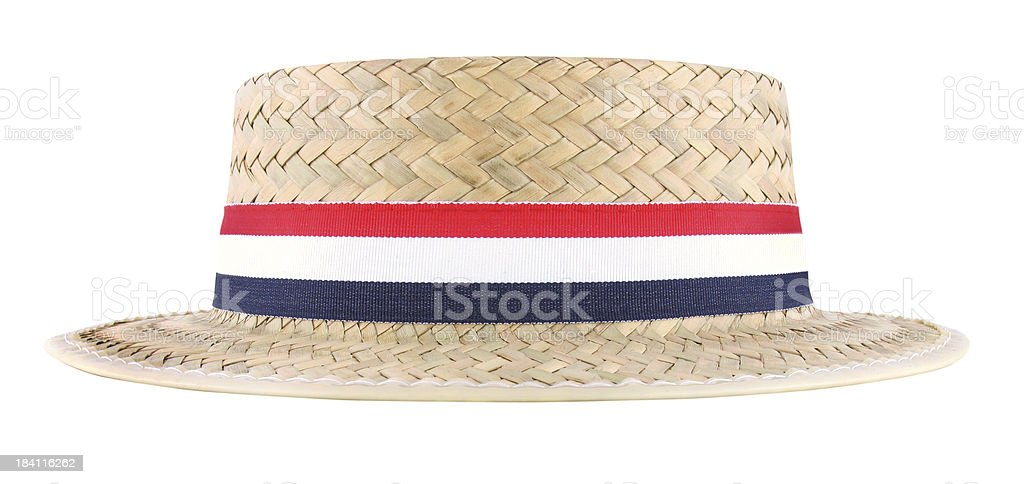Straw Election Hat (with clipping path) royalty-free stock photo