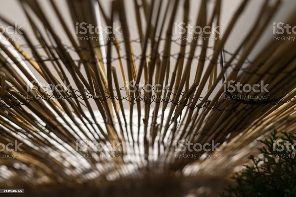 Straw fence. stock photo