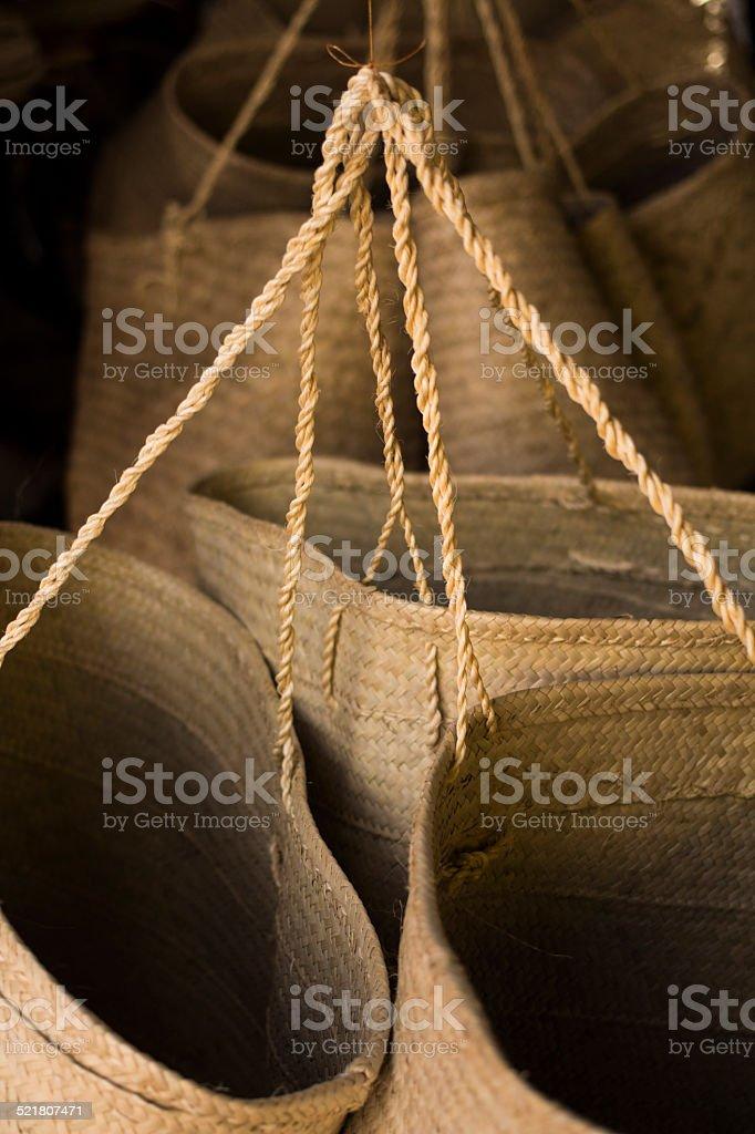 Bolsas de palha - foto de acervo