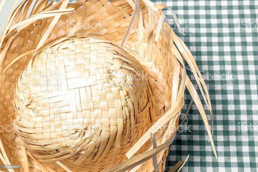 Straw Hat. Festa Junina Theme stock photo