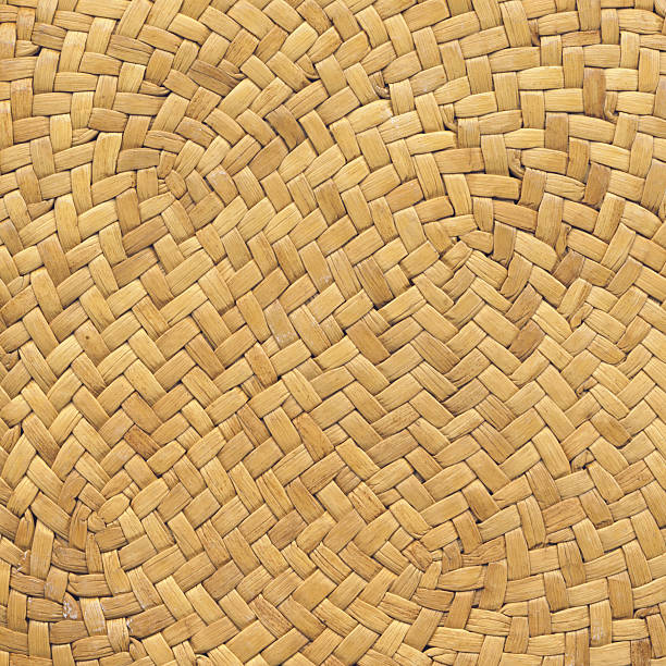 Straw Hat High Resolution Criss Cross Woven Pattern stock photo