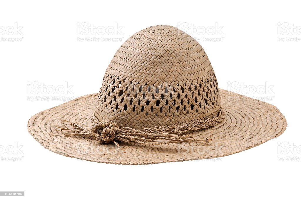 Straw hat isolated on white background royalty-free stock photo