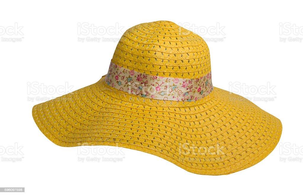 straw hat  isolated on white background royalty-free stock photo