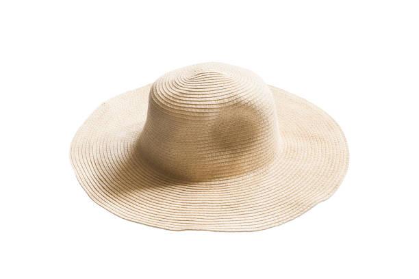 Hasır şapka izole stok fotoğrafı