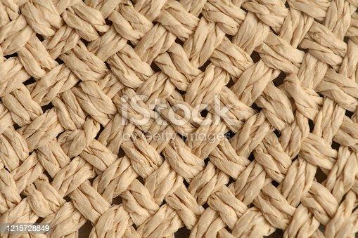 Close up of straw pattern