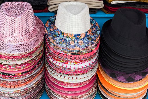 Straw hats in Thassos, Greece