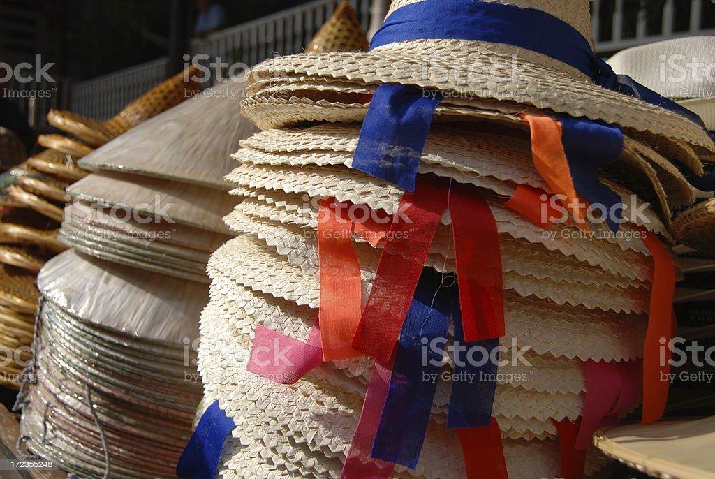 Straw hats royalty-free stock photo
