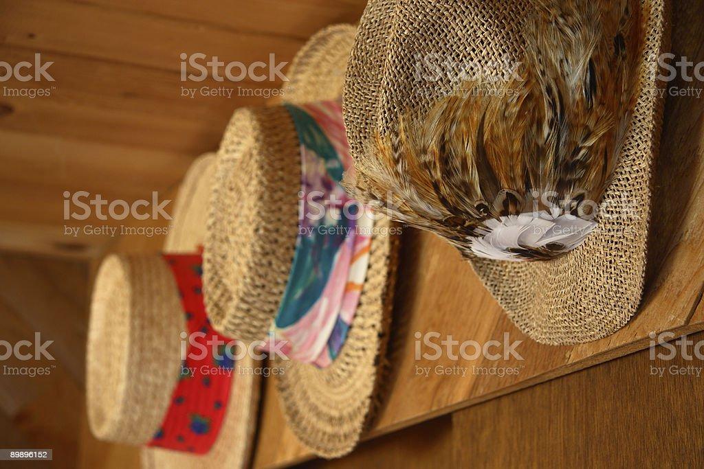 Sombrero de paja foto de stock libre de derechos
