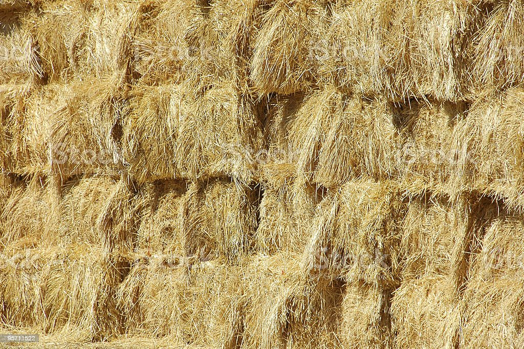Straw Haystack stock photo