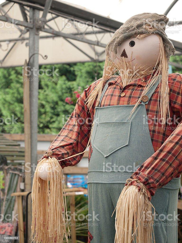 Straw Man stock photo