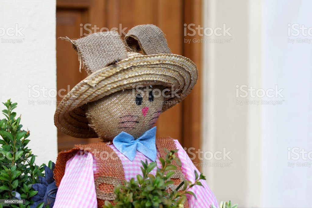 Straw man stock photo
