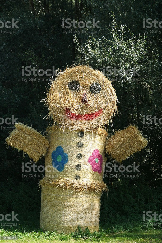 Straw Man royalty-free stock photo