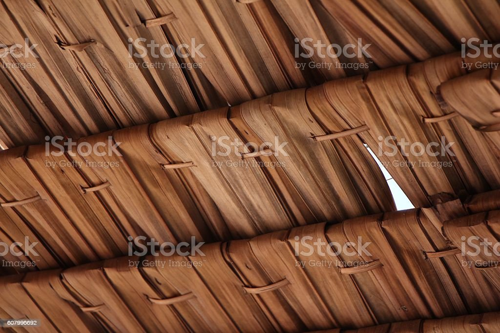 Straw pattern Thatched Roof stock photo