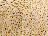 istock Straw plate close up texture for natural background 1268586401