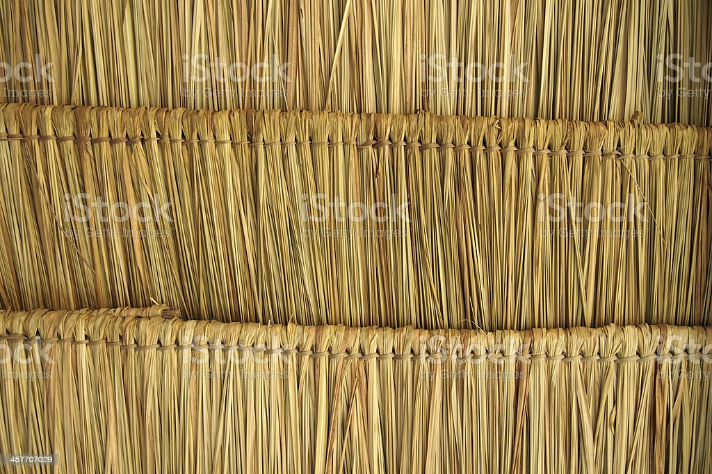 Straw roof royalty-free stock photo